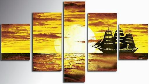 Pictures decor seaspace ship wall art modern art home d