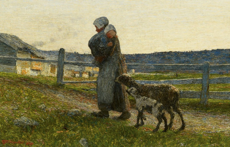 Giovanni Segantini - The Two Mothers, 1891