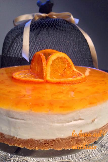 cheesecake al cioccolato bianco e arance