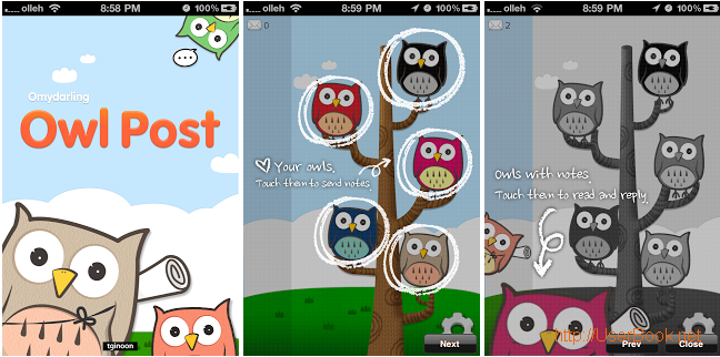 owl post 부엉이 포스트 아이폰 앱