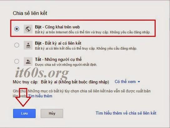 Cách nhúng tài liệu vào trang Web thông qua Google Drive 6
