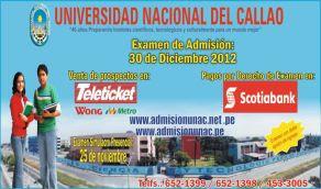 Lista aulas examen UNAC Callao 2012 2 30 Dic