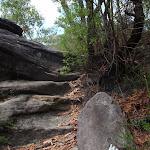 Climbing up onto a rock shelf (114781)
