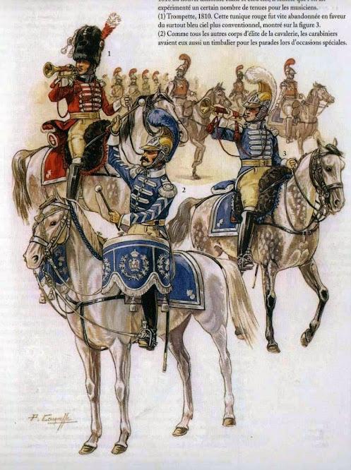 Trumpeter 1st Westphalian Cuirassiers Regiment 1813 MiniArt 1/16 Trompette+Brigadier+Trompette+de+Carabiniers