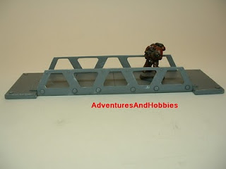 Small high tech pedestrian bridge Science Fiction war game terrain and scenery
