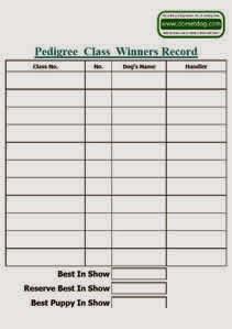 Blank Pedigree class winners list