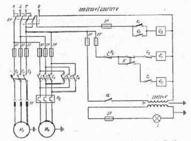 schema electrica a masinei de gaurit
