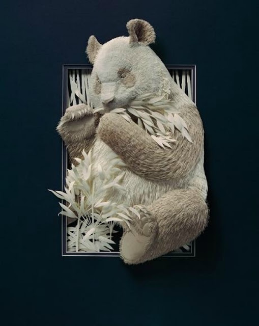 Wildlife Paper Sculpture by Calvin Nicholls 9