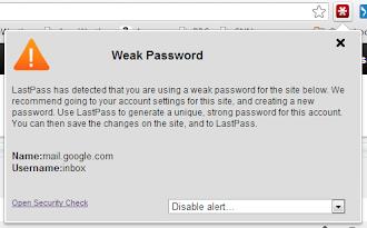 LastPass te avisará si tus contraseñas son débiles o están duplicadas
