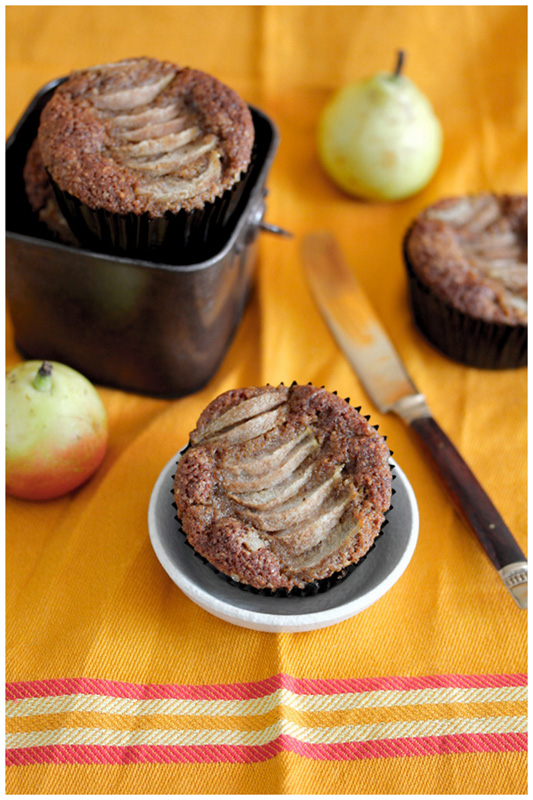 Foodagraphy. By Chelle.: Hazelnut pear brown butter muffins