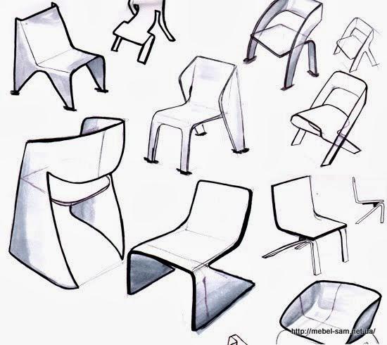Разработка идеи кресла из гнутоклееной фанеры