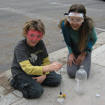 We often take our science experiments outside, especially when they can get smelly or messy!