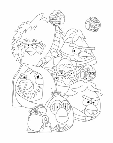 angrybird starwars coloring pages - photo#17