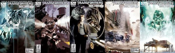 Transformers: Sector 7 1-5 Cómic Español