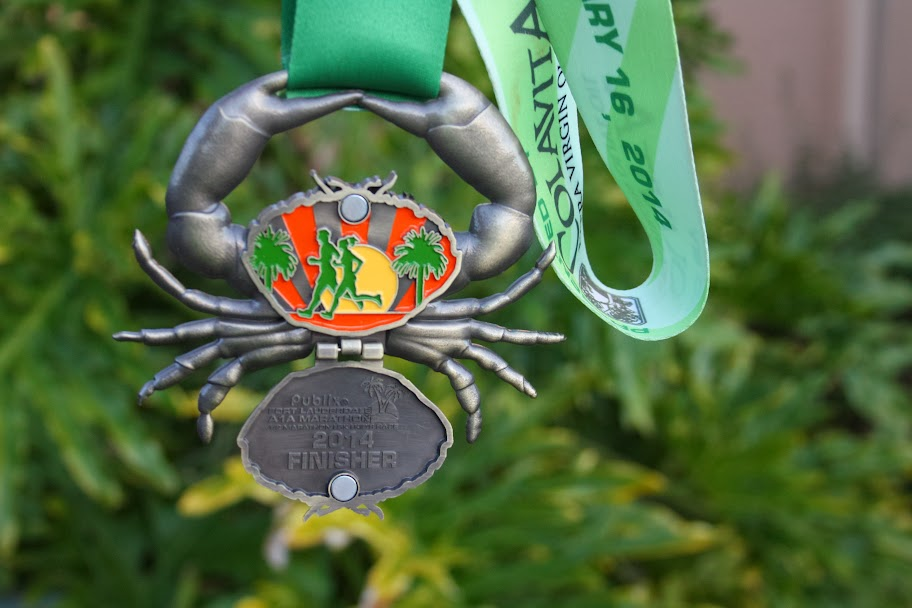 A1A Marathon 2014 Medal