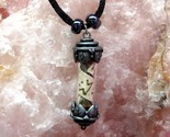 Vial Pendant Necklace With Runes Gemstones And Herbs Image