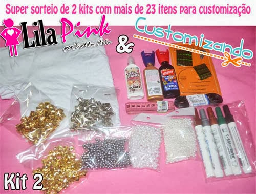 Sorteio de kits de customização - blog Lila Pink e Customizando - kit 2
