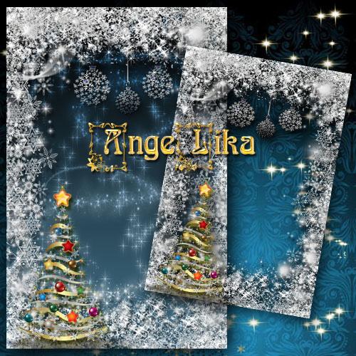 Рамка для фото - Снежный Новый год
