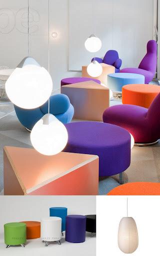 decoración oficinas como skype muebles colores interiorismo de oficinas pufs