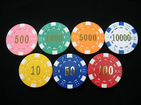 chip poker số in