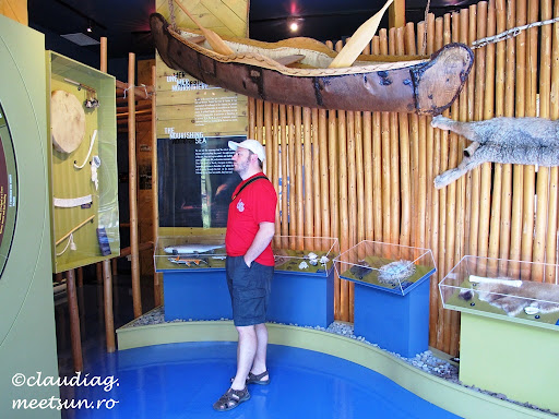vizitam un muzeu dedicat civilizatiei Micmac, bastinasii acestor locuri