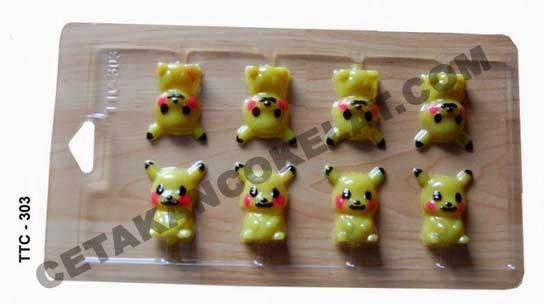 Cetakan Coklat TTC303 Pokemon Pikachu