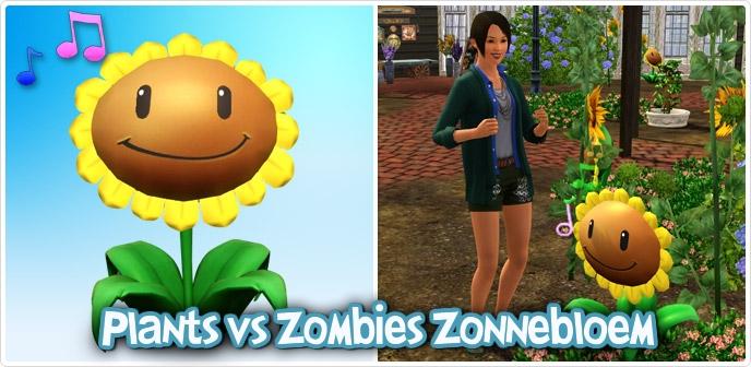Sims Plants vs. Zombies Zonnebloem