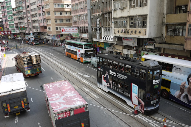 Hong Kong tram with Roca advertisement