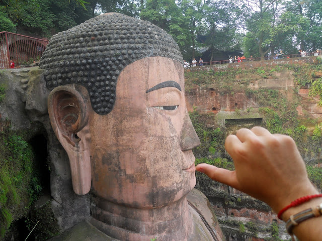 The buddha sucks thumb