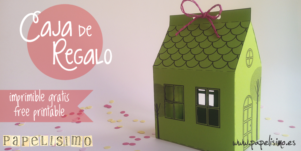 Caja de regalo casa con plantilla papelisimo - Regalos en casa ...