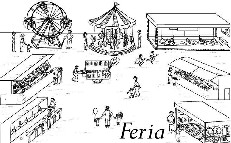 Laminas De Atracciones De Feria Para Pintar: Pinto Dibujos: Dibujo De La Feria Para Colorear