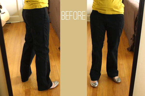 skinny pants diy before
