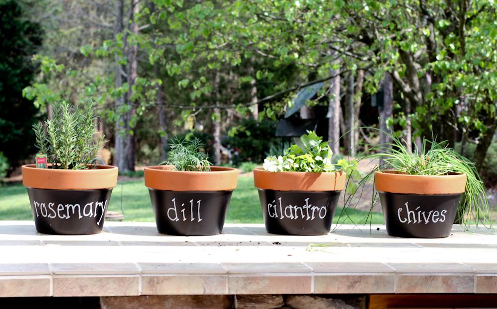 Martha inspired terracotta herb pots scissors spatulas workwithnaturefo