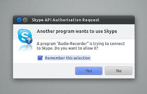 Audio Recorder Skype