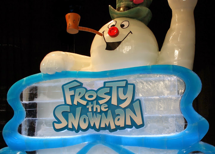 ICE! Featuring Frosty the Snowman (Carved from Ice) at the Gaylord Opryland