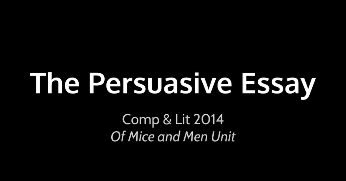 persuasive essay presentation google slides