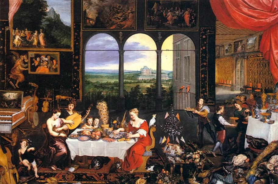 Jan Brueghel the Elder - The Senses of Hearing, Touch and Taste