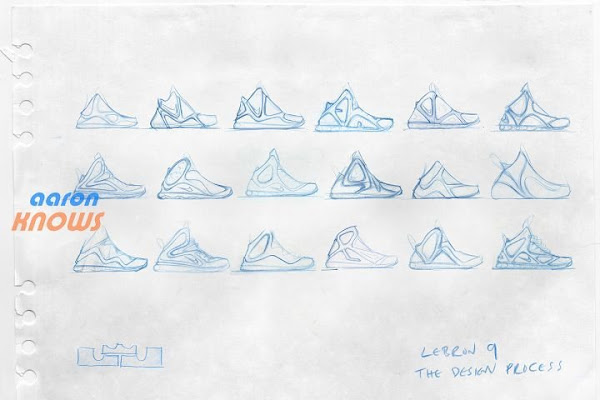 Nike LeBron 9 Design Sketches by Jason Petrie