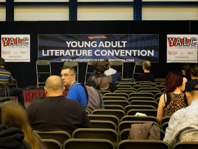 Panel area at London YA Lit Con (YALC)