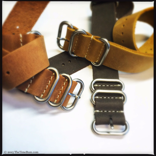 Nato Strap Company leather NATO and Zulu Straps