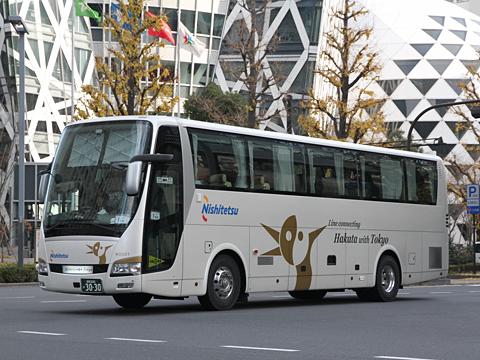 西日本鉄道「はかた号」 0001 新宿にて