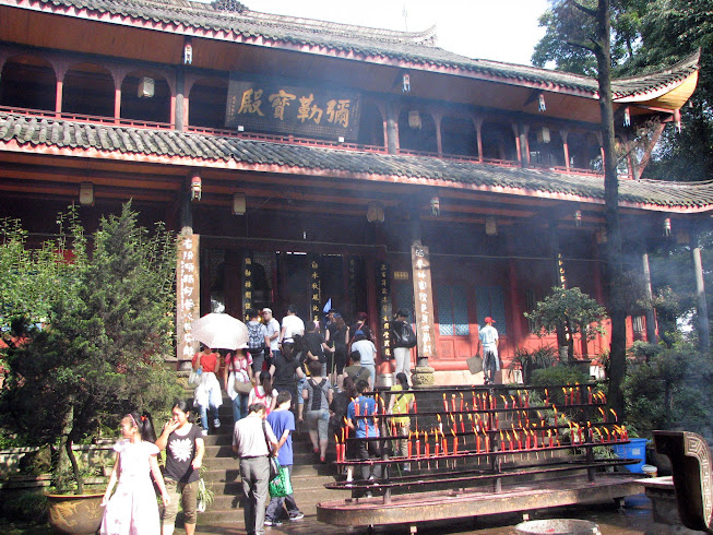 Wannian Temple Courtyard, Emeishan, Sichuan