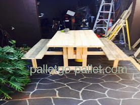 bàn pallet gỗ để ngoài trời
