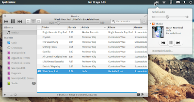 elementary OS 0.2 - player Musica