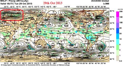 extreme wind europe oct 2013 MSLP