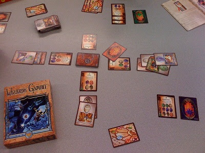 Wizard's Gambit card game in play