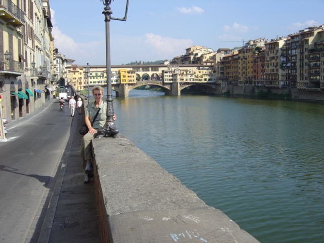 Trish at Ponte Vecchio