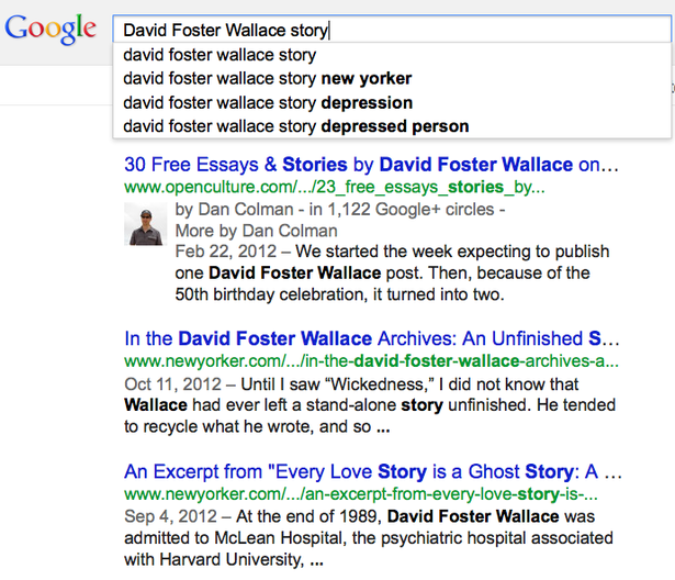 David foster wallace depressed person essay