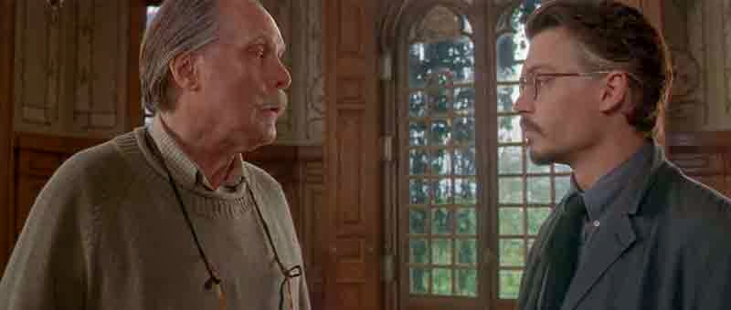Screen Shot Of Hollywood Movie The Ninth Gate (1999) In Hindi English Full Movie Free Download And Watch Online at Alldownloads4u.Com