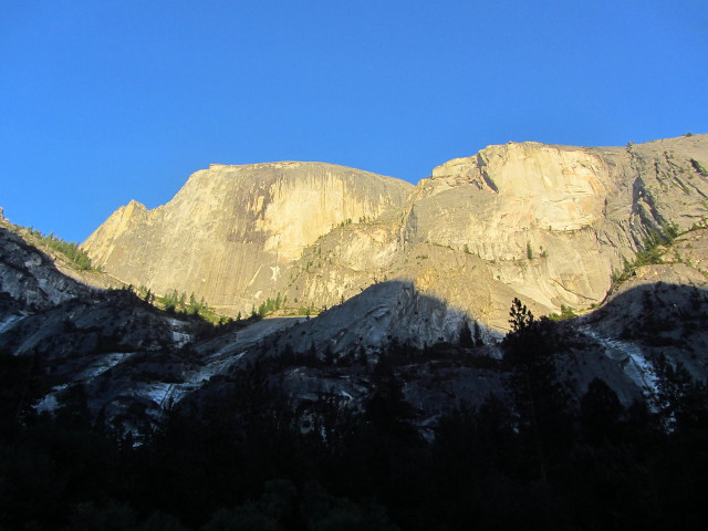 Half Dome as seen from Mirror Lake